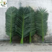 China UVG Palm tree leaves artificial with fabric leaves for home garden decoration PTR014 wholesale