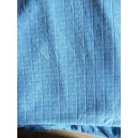 China Microfiber Factory Blue Weft Big Grid Car Cleaning Cloth 1.5m Width 320gsm Density wholesale