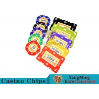 China 760pcs 12g Sticker Pure Clay Poker Chip Sets With Number And UV logo wholesale