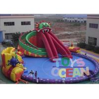 Quality Dragon Amusement Inflatable Land Water Park For Kids Adults Security Fun for sale
