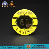 China Macao Competition Casino Poker Chips Hot Stamping Anti - Counterfeit wholesale