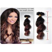 China 3pcs / Lot Deep Wave Remy Human Hair Extensions Temple Raw Unprocessed wholesale