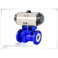 China Floating 2 Inch Motorized Ball Valve , Two Piece Type Double Acting Cylinder Control Valve wholesale
