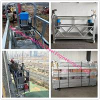 China Hot-dip Galvanized Suspended Scaffold Platform With Customized Length And Heavy Loading Capacity on sale