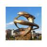 China Modern Public Decoration Metal Dolphin Statue , Bronze Dolphin Statue wholesale