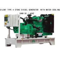 Quality 18KW Silent Type 4 Stoke Perkins Diesel Generators  With Water Cooling for sale