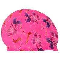 Quality Silk Printed Silicone Swimming Caps , Durable Bathing Caps For Swimming for sale