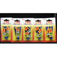 China Handmade Painted Number Candle with Blue Set Square and Yellow Edge with colorful Paintings wholesale