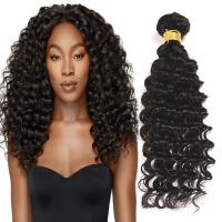 China Natural Black Virgin Human Hair Bundles Without Lice / Machine Double Weft wholesale