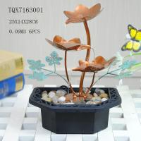 Quality Portable Indoor Table Water Fountain For Home Decoration , Leaf Design  25 X 14 X 28 Cm wholesale