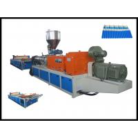 Quality Durable Twin Screw Extruder For Plastic Corrugated Roofing Sheet Making Machine for sale
