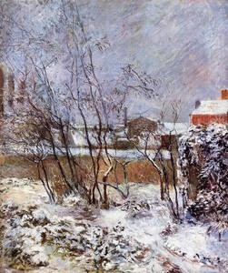 Quality Impressionist(3830) Snow, Rue Carcel for sale