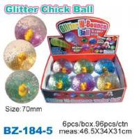 China Glitter Bouncing Ball with Chick wholesale