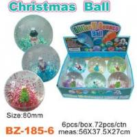 China Glitter Bouncing Ball with Christmas wholesale