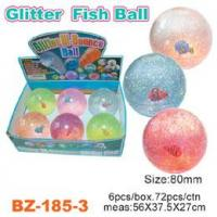 China Glitter Bouncing Ball with Fish wholesale