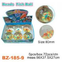 China Colorful Beads Bouncing Ball With Fish wholesale