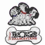 Quality RK00005 Computerized Embroidery Label, Available in 101 Dalmatians Theme, OEM Orders are Welcome for sale