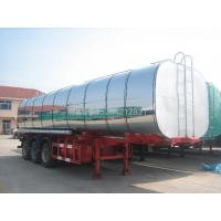China 35000 Liter square round bitumen tank semi trailer with insulation wholesale