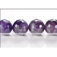 Quality AEW15 grade A- 16mm faceted round Amethyst beads for sale