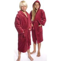 China Red Hooded Terry Kid's Bathrobe on sale