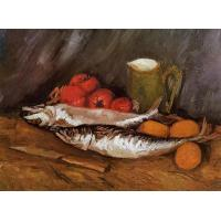 Quality Still Life with Mackerels, Lemons and Tomatoes by Vincent Van Gogh #1049 for sale