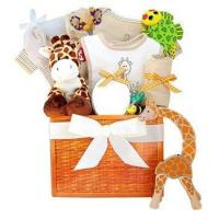 "Quality ""Party in the Jungle"" Baby Gift Basket - Personalized for sale"