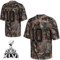 Quality New York Giants #10 Eli Manning Camouflage Realtree Collection 2012 Super Bowl XLVI Replica Jersey for sale