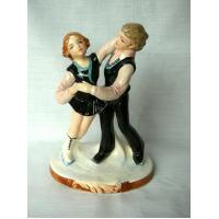 China Vintage Schmidt Ice Skaters Figurine - Hand Painted wholesale