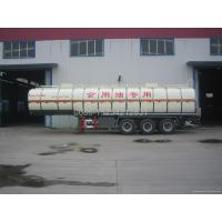 China 34600 liter liquid food tank trailer for vegatbale oil wholesale