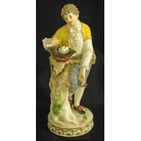 China Porcelain - China Meissen figurine of gentleman collecting eggs in his hat. Height 7 3/4 in. wholesale