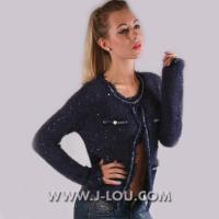 Quality K508 Sexy Ladies Unique Retro Sparkly Navy Gold Cardigan for sale