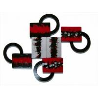 China Customizable Rings and Abstract Blocks 2-Piece Wall Sculpture wholesale