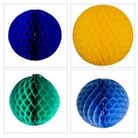 China Display Decorations Flame Resistant Honeycomb Paper Ball Hanging Decoration wholesale