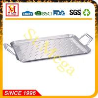 China BBQ Grill Topper 17.3 x 11.8-Inch Stainless steel rectangular grid wholesale