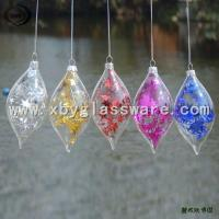 China Glass Christmas Ornament Teardrop wholesale