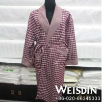 China Hotel man fleece terry towel bathrobe wholesale
