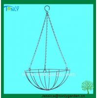 Quality Wire Planter Baskets Garden Coir Hanging Baskets for sale