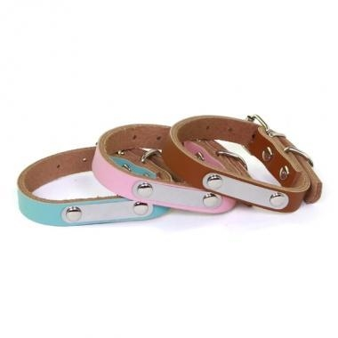 Quality Personality Name Dog Leather collar for sale