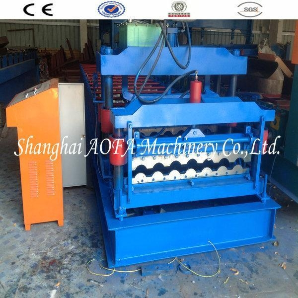 Quality Bamboo Type Gazed Tile Manufacture Roll Forming Machine for sale