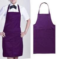 Buy cheap Wholesale Cheap Polyester Plain Color Custom Logo Apron With Pocket from wholesalers
