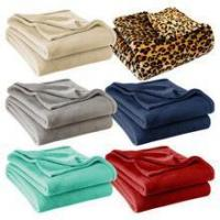 Buy cheap Stylish Solid Print Coral Fleece Blanket Throw Plaid Leopard Grey Red Color from wholesalers