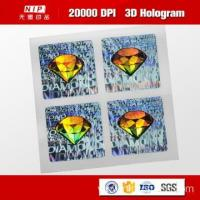 China Color Change Custom 3d Holographic Stickers with UV Print wholesale