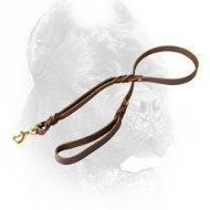 China Dog Training Supplies Leather Cane Corso Leash for Walking and Better Controlling wholesale