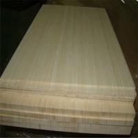 China Natural Colour and Vertical Pressed Bamboo Slabs as Furniture Facing wholesale