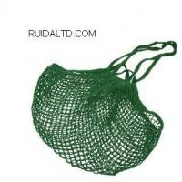 China Eco- Friendly bag Green Cotton Mesh Bag with two different handles Product No.:RDCNSB6620 on sale