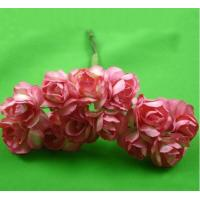 China PFPR014Peach Red 2.0cm paper flower rose wholesale