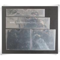 China Large custom clear PVC name card Jacket. PVC cover wholesale
