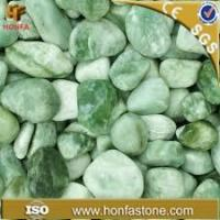 China granite series green jade pebbles wholesale