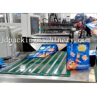 China Quad Flat Bottom Pouch 2lanes Bag Making Machine wholesale