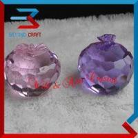 China Optical Apple Shaped Crystal Glass Paperweight wholesale